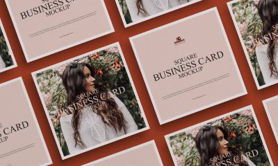 Free-Grid-Square-Business-Card-Mockup-Design