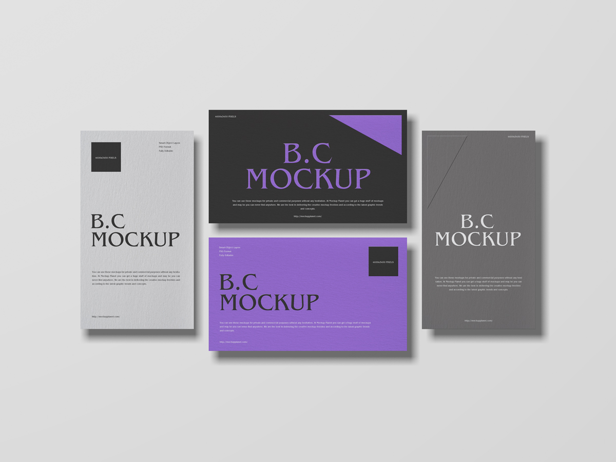 Free-Top-View-Brand-Business-Card-Mockup-Design