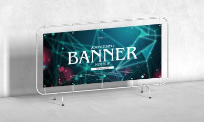 Free-Floor-Stand-Advertising-Banner-Mockup-Design