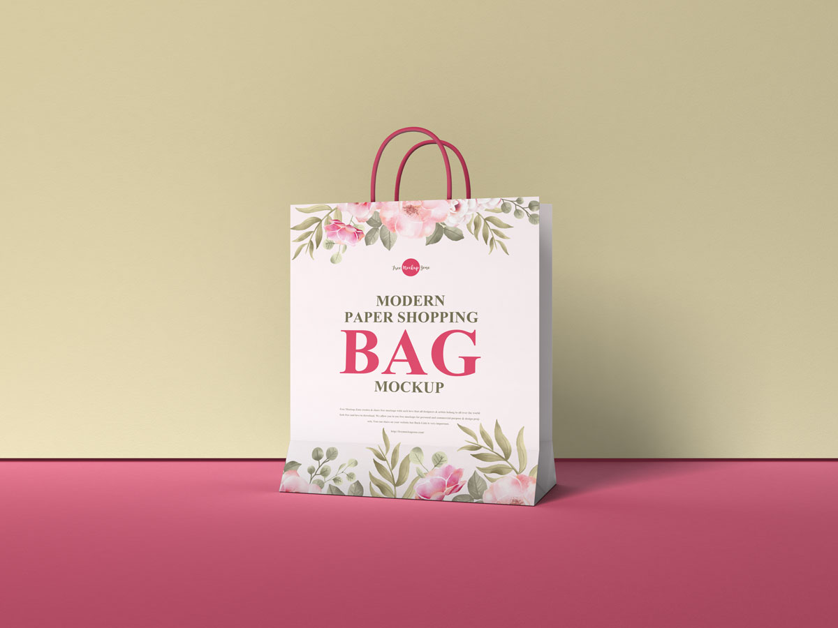 Free-Packaging-Paper-Shopping-Bag-Mockup-Design