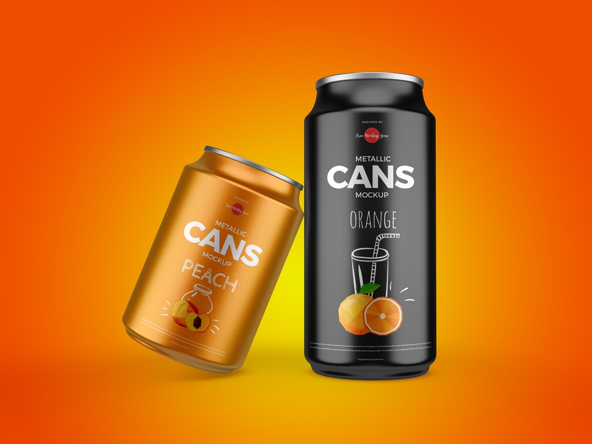 Free-Metallic-Drinks-Cans-Mockup-Design