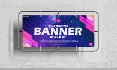 Free-Advertising-Wall-Mounted-Banner-Mockup-Design