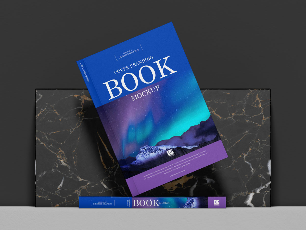 Free-Front-View-Stylish-Book-Mockup-Design