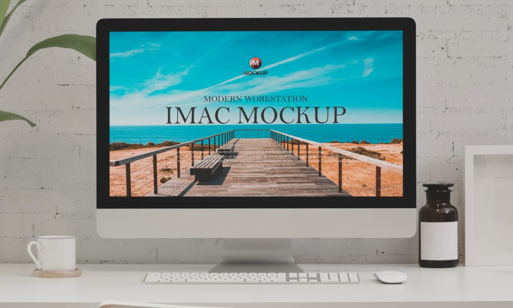 Free-Modern-Workstation-iMac-Mockup-Design