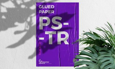 Free-Glued-Paper-Outdoor-Advertising-Poster-Mockup-Design