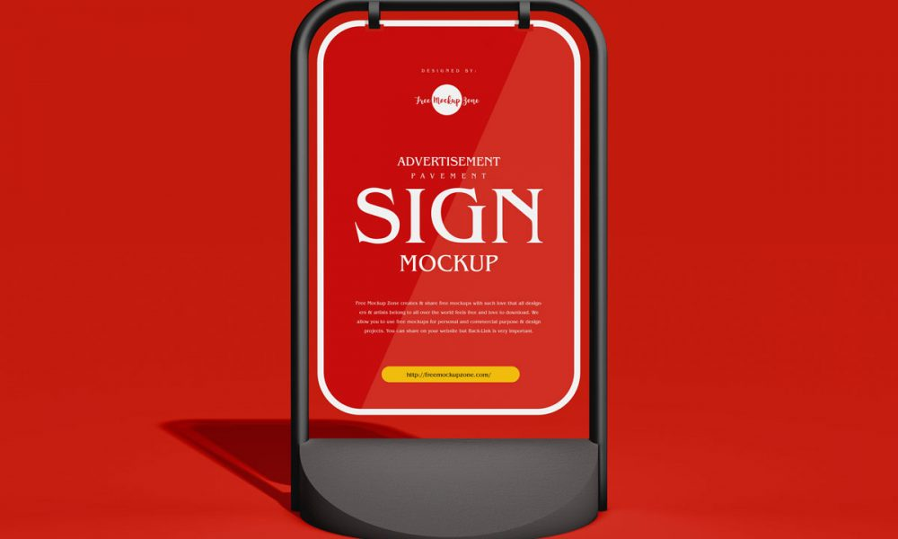 Free-Advertising-Stand-Sign-Mockup-Design