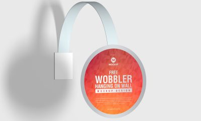 Free-Wobbler-Hanging-on-Wall-Mockup-Design-Vol-2