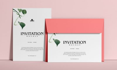Free-Elegant-Envelope-With-Invitation-Mockup-Design