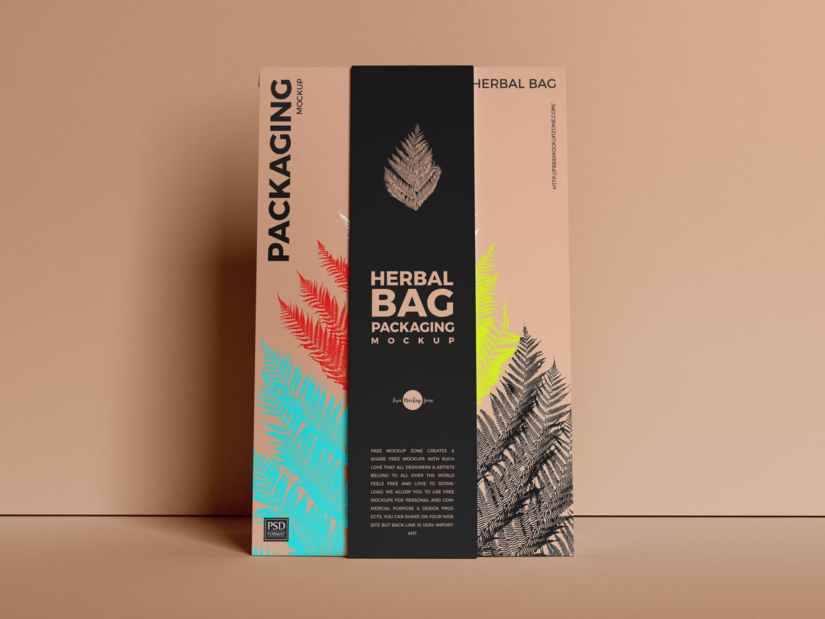 Free-Food-Paper-Bag-Packaging-Mockup-Design