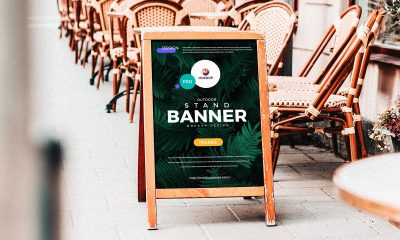 Free-Outdoor-Stand-Banner-Mockup-Design