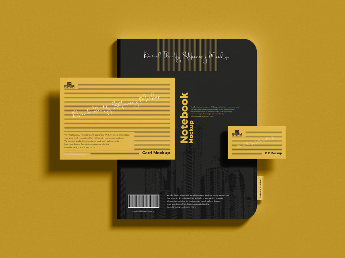 Free-Top-View-Corporate-Identity-Stationery-Mockup-Design