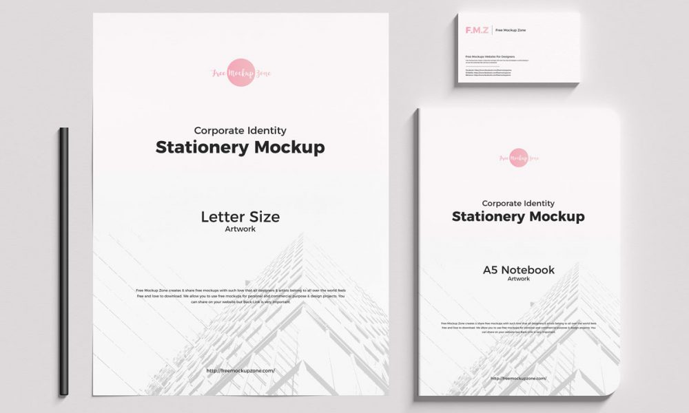 Free-Top-View-Fabulous-Brand-Stationery-Mockup-Design