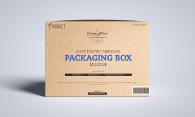 Free-Front-View-Cargo-Box-Packaging-Mockup-Design