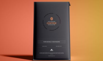 Free-PSD-Front-View-Coffee-Bag-Packaging-Mockup-Design