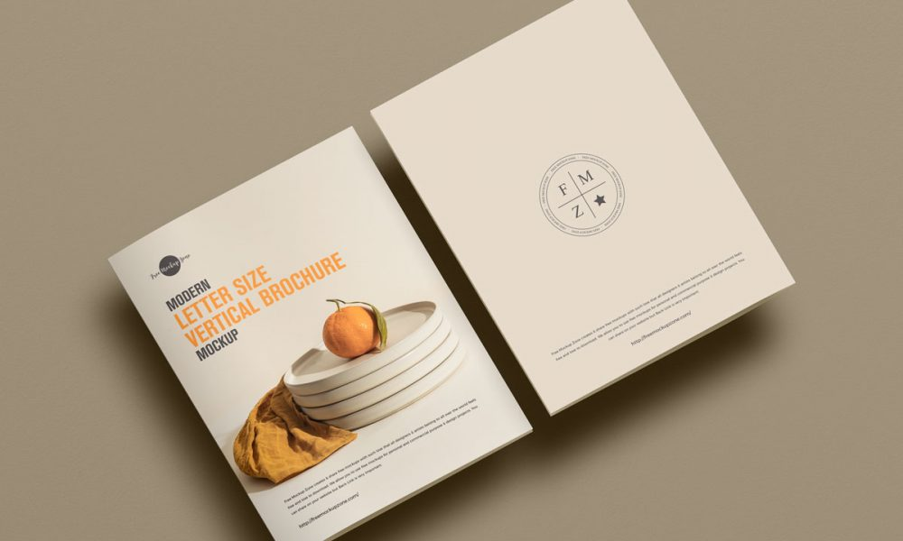 Free-Top-View-Letter-Size-Brochure-Mockup-Design