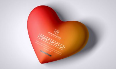 Free-Top-View-Love-Heart-Mockup-Design