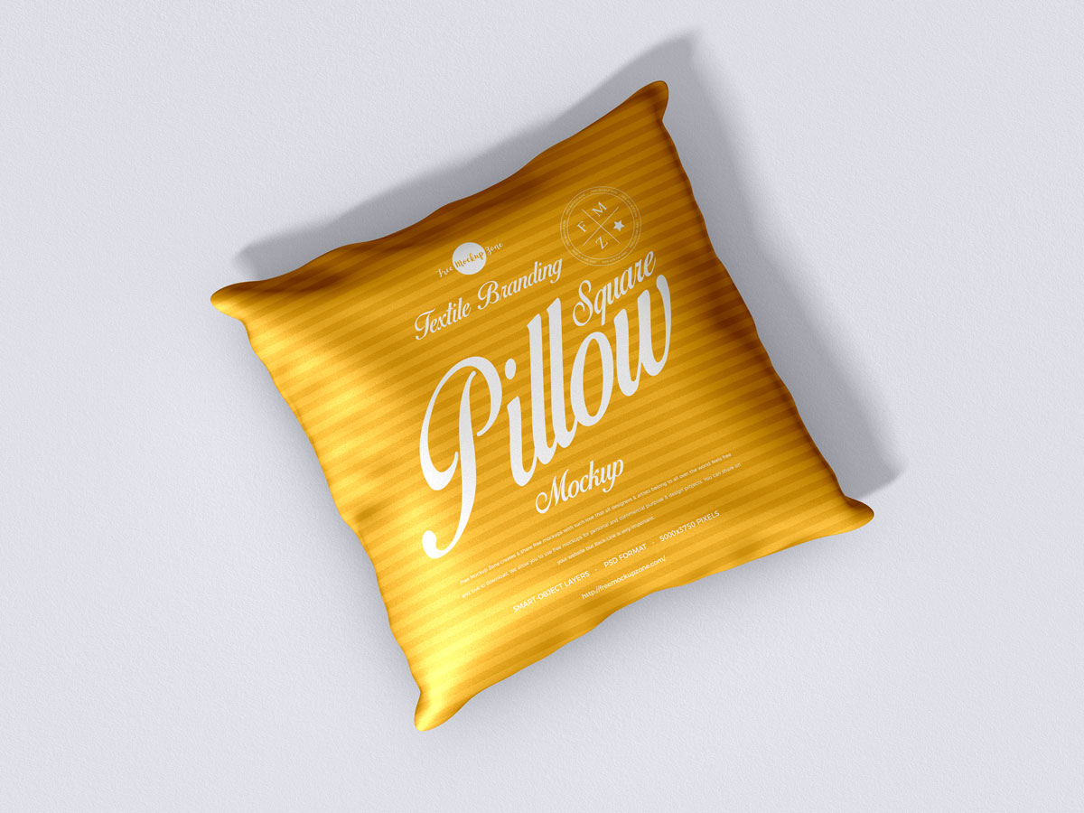 Free-Top-View-Square-Pillow-Mockup-Design