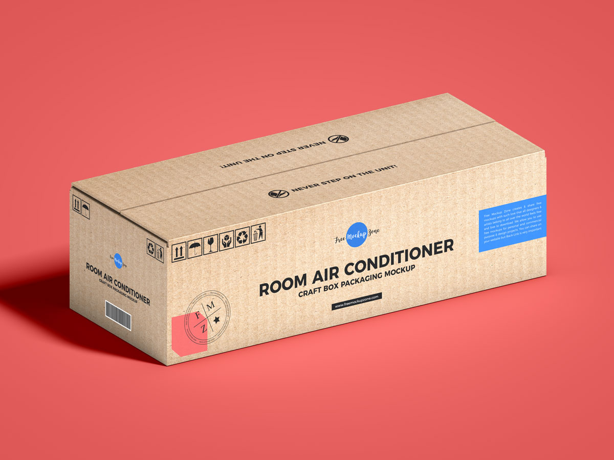 Free-Air-Conditioner-Packaging-Mockup-Design