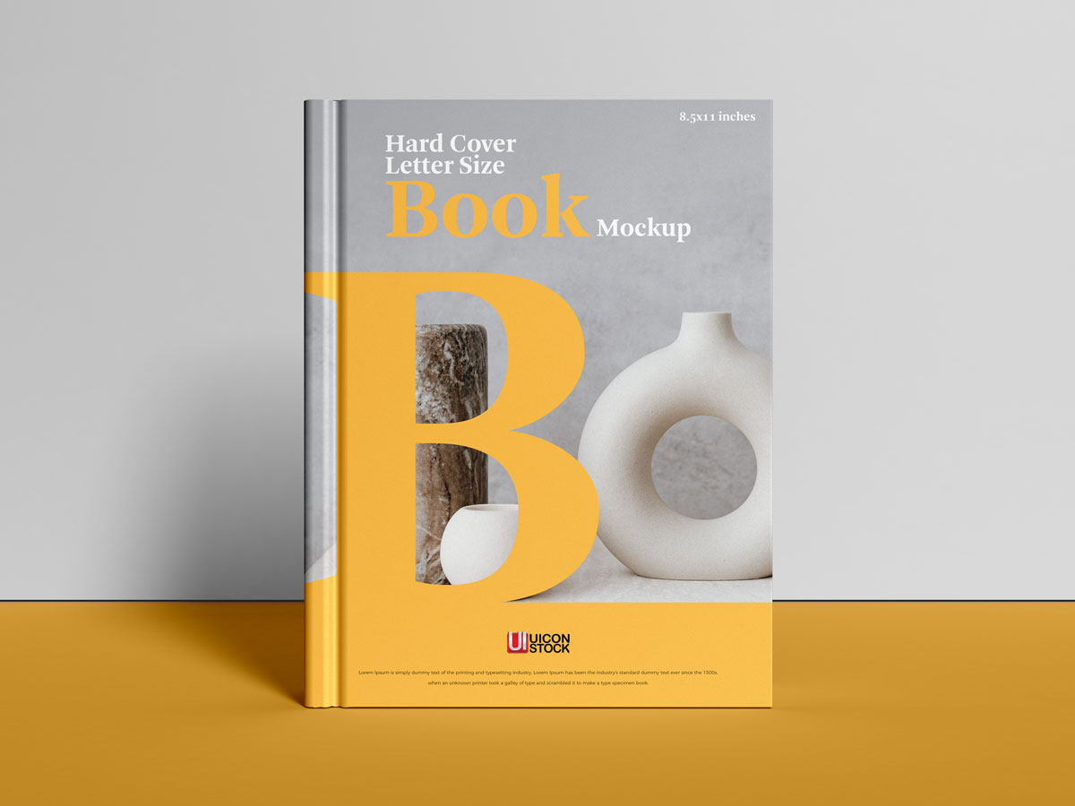 Free-Front-View-Cover-Branding-Book-Mockup-Design