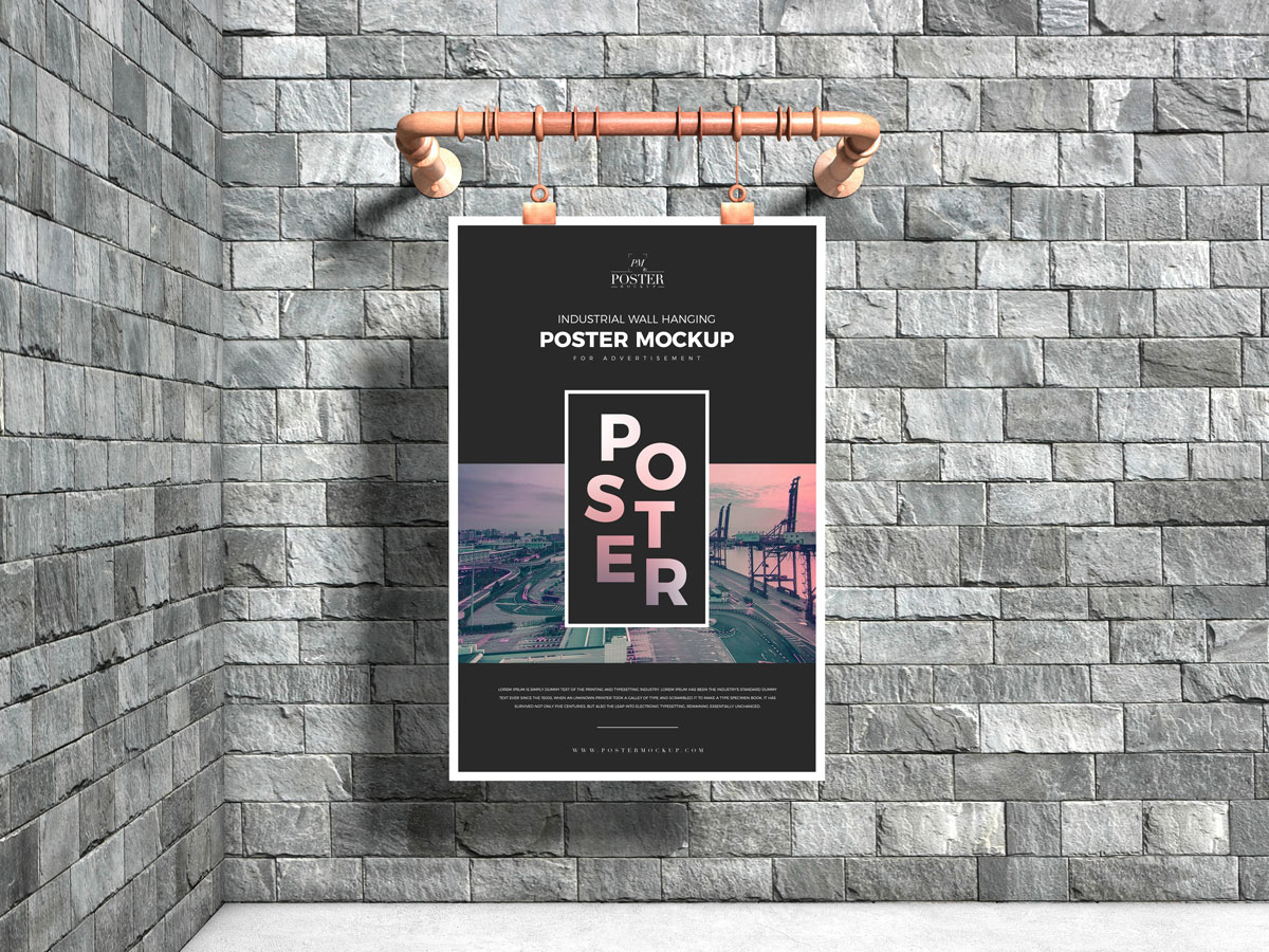 Free-Industrial-Advertising-Poster-Mockup-Design