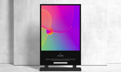 Free-Front-View-Stand-Display-Poster-Mockup-Design