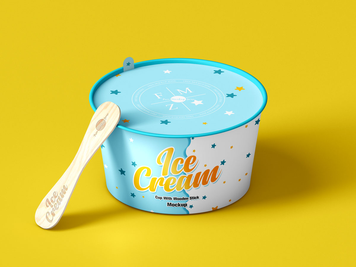 Free-Ice-Cream-Cup-Packaging-Mockup-Design