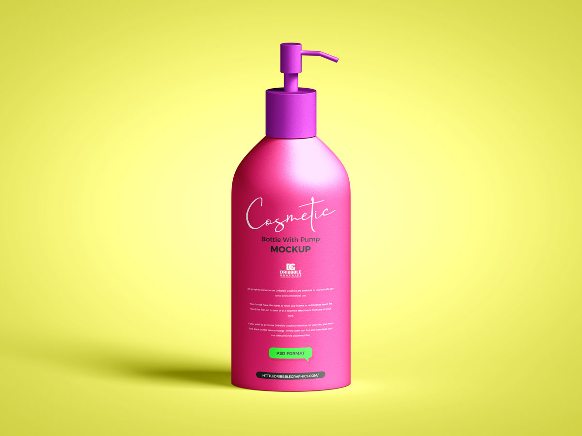 Free-Pump-With-Cosmetic-Bottle-Mockup-Design