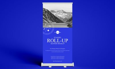 Free-Front-View-Advertising-Roll-Up-Banner-Mockup-Design