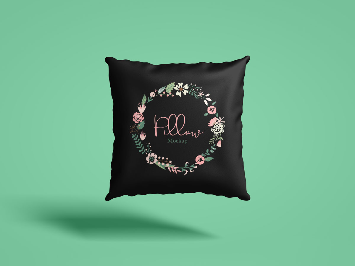 Free-Front-View-Square-Pillow-Mockup-Design