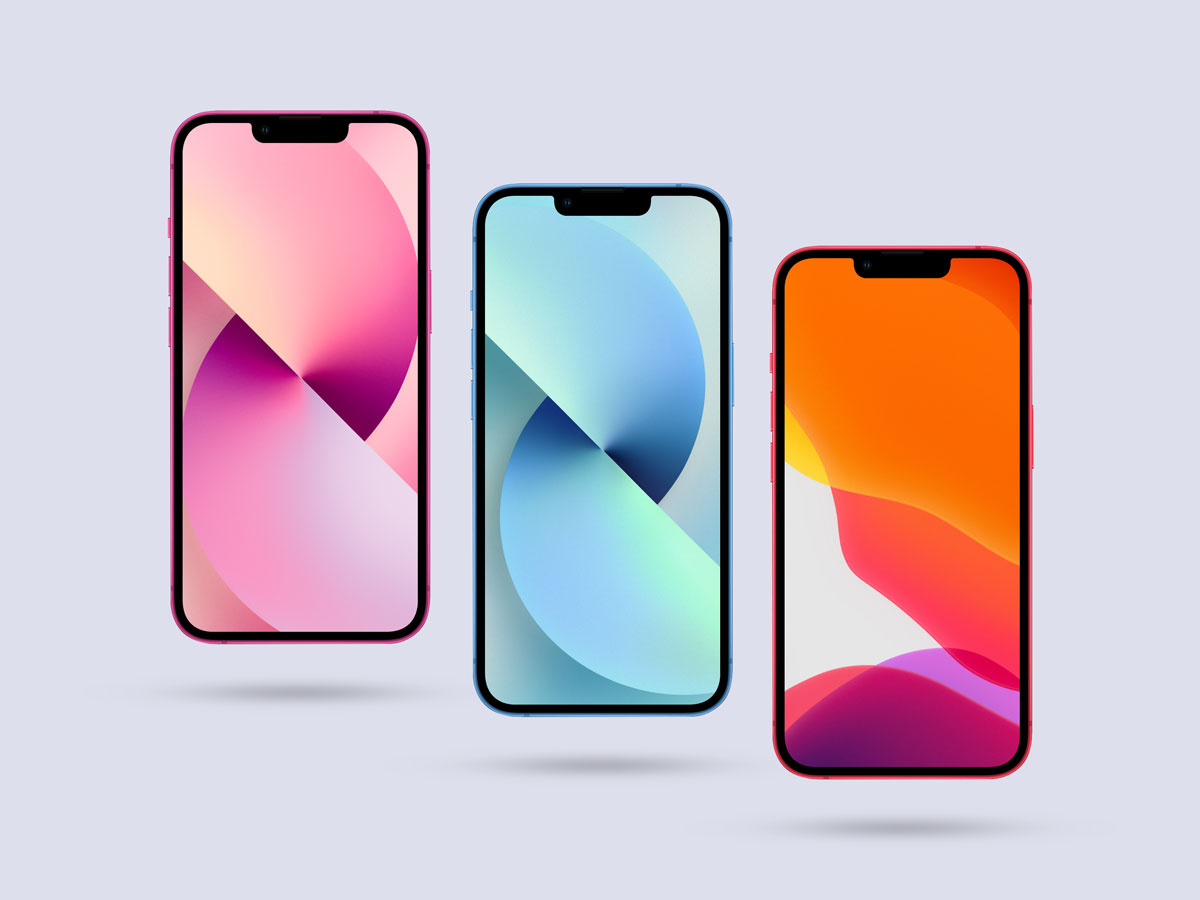 Free-Front-View-iPhone-13-Mockup-Design
