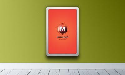 Free-Indoor-Vertical-Advertising-Billboard-Mockup-PSD-300