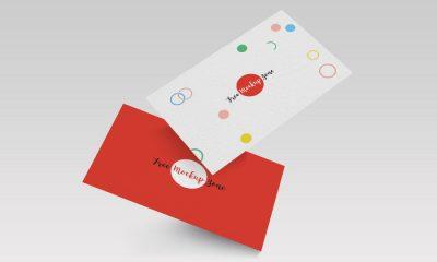 Falling-Business-Card-Mockup