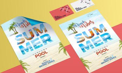 Flyer-&-Business-Card-Mockup