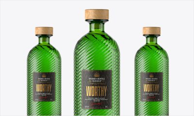 Green-Bottle-With-Wooden-Cap-Mockup-PSD-Template