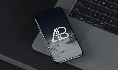 iPhone-8-On-MacBook-Pro-Mockup-PSD