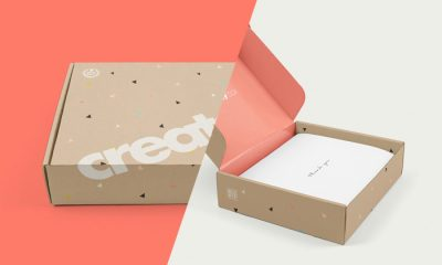 Free-Mailing-Box-Mockup