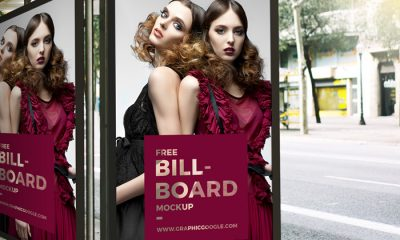Bus-Stop-Billboard-Mockup-2018-For-Branding-&-Advertisement