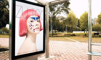 Free-Outdoor-Bus-Stop-Branding-Poster-Billboard-Mockup-PSD-2018