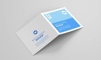 Free-Square-Bi-Fold-Leaflet-Mockup
