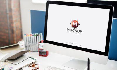 Free-Computer-Mockup-For-Website-Screen-Presentation-2018