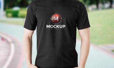 Free-Cool-Boy-Wearing-Black-TShirt-Mockup-PSD