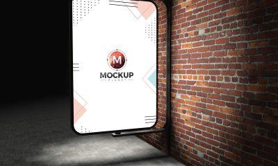 Free-Street-Advertising-Billboard-on-Bricks-Wall-Mockup-PSD