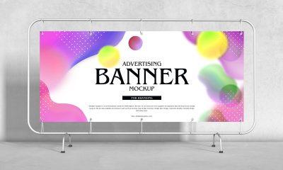 Free-Advertising-Floor-Stand-Banner-Mockup-Design