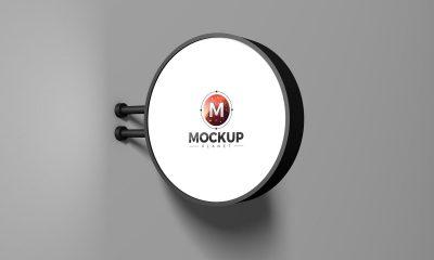 Free-Advertising-Round-Signboard-Mockup-Design