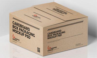 Free-Cardboard-Cargo-Box-Mockup-Design-For-Packaging