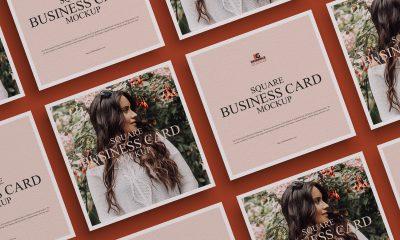 Free-Grid-Square-Business-Card-Mockup-Design