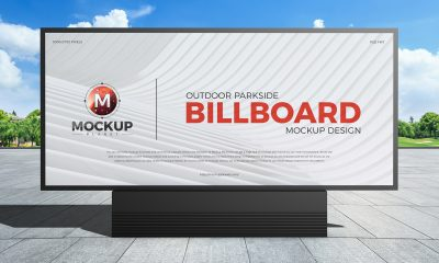 Free-Outdoor-Parkside-Advertisement-Billboard-Mockup-Design