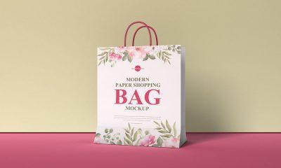 Free-Packaging-Paper-Shopping-Bag-Mockup-Design