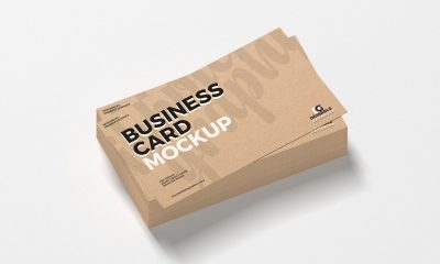 Free-Brand-Stack-of-Craft-Business-Card-Mockup-Design