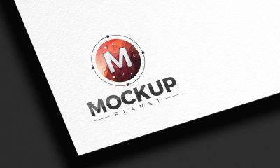Free-Branding-White-Texture-Logo-Mockup-Design